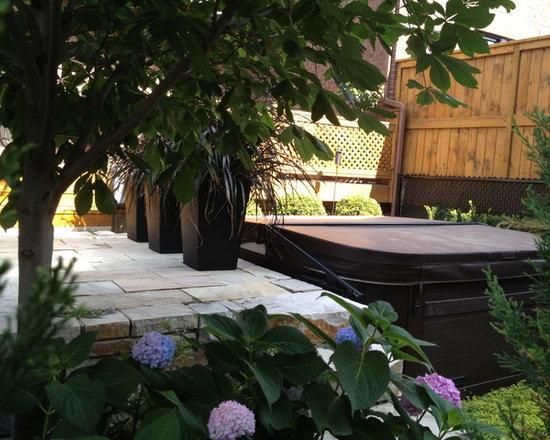 Spa garden - Landscape architect: Jocelyn Lussier