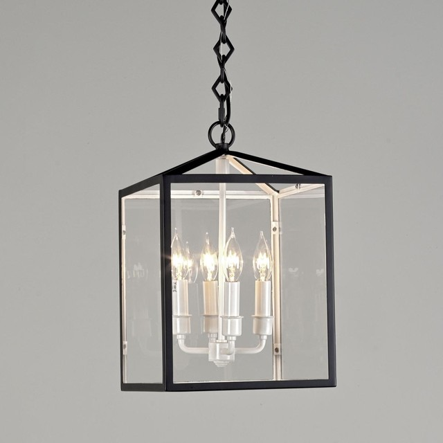 Black and White Lantern - 4 lt. - outdoor lighting - by Shades of