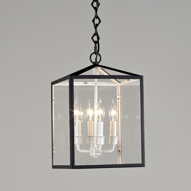 Black and White Lantern - 4 lt. outdoor-lighting