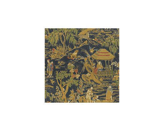 Fishing Village Fabric, Navy -
