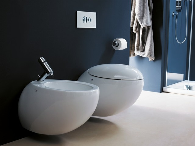 Laufen Alessi One Wall Hung Toilet And Bidet Modern