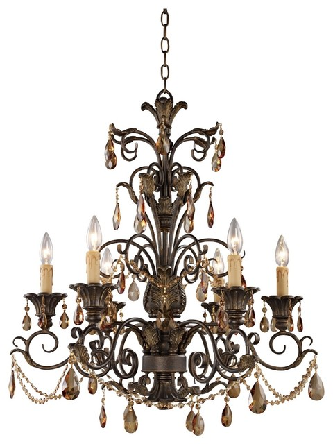 trump home rochelle collection 6 light chandelier traditional