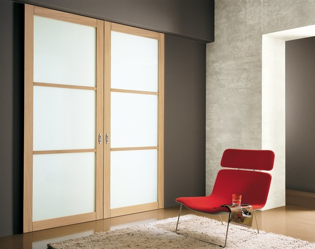 Sliding doors contemporary interior doors for Indoor sliding doors