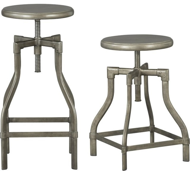 Turner Gunmetal Bar Stool Industrial Bar Stools And