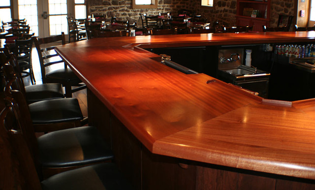 Mahogany Wood Bar Top By Grothouse Traditional Kitchen Countertops Sacramento By The