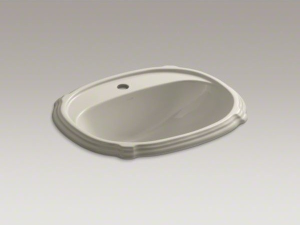 KOHLER Portrait(R) drop-in bathroom sink with single faucet hole contemporary-bathroom-sinks