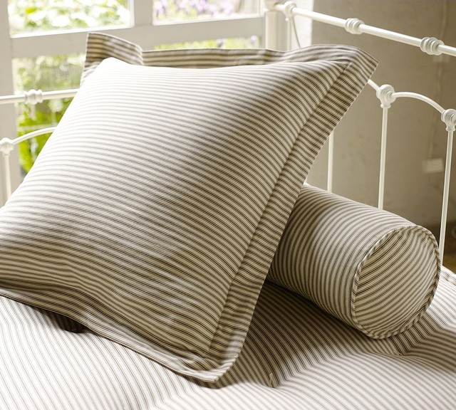 Ticking Stripe Pillow Cover Traditional Shams By