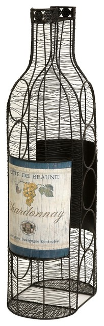Wine Bottle Rack Holder transitional-accessories-and-decor
