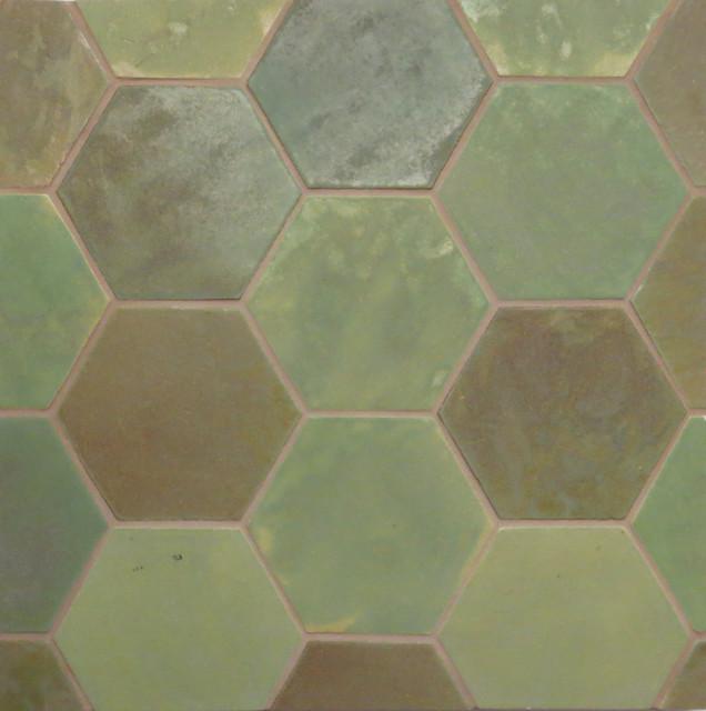 Patina Large Format Honeycomb Tile
