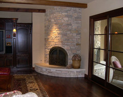 Custom Fireplaces traditional living room