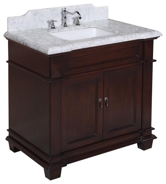 Elizabeth 36-in Bath Vanity (Carrara/Chocolate) traditional-bathroom-vanities-and-sink-consoles