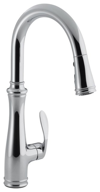 KOHLER K-560-CP Bellera Pull-down Kitchen Faucet in Polished Chrome contemporary-kitchen-faucets