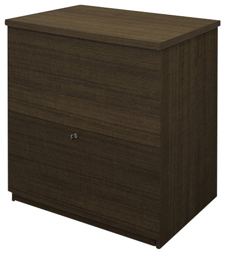 Bestar 2 Drawer Lateral Wood File Storage Cabinet in Tuxedo - Transitional - Filing Cabinets ...