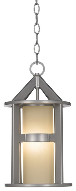 """Contemporary Argentine 16"""" High Brushed Steel Outdoor Hanging Light contemporary-outdoor-lighting"""