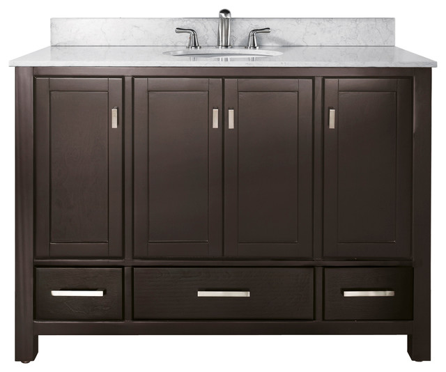 modero 48 vanity combo espresso black granite top