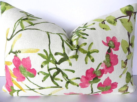Floral Braemore Decorative Pillow Cover by Pillow Chix contemporary-decorative-pillows