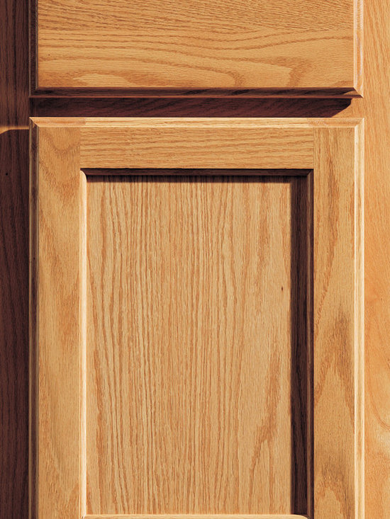 """Dura Supreme Cabinetry - Dura Supreme Cabinetry Oxford Panel Overlay Cabinet Door Style - Dura Supreme Cabinetry """"Oxford Panel"""" overlay cabinet door style in Quarter-Sawn Red Oak shown with Dura Supreme's """"Butternut"""" finish."""