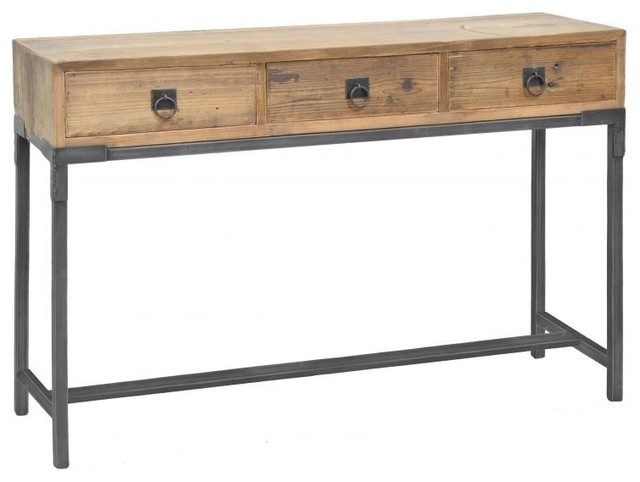 Baylor 3-Drawer Console Table - Modern - Side Tables And Accent ...