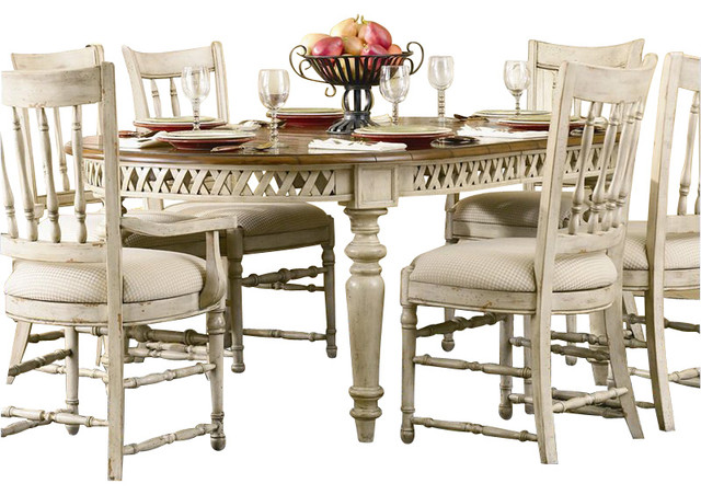 Summerglen Oval Dining Table With Leaves Antique White Farmhouse Dining