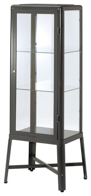 Fabrikör Glass Door Cabinet, Dark Gray - Modern - Storage Cabinets - by IKEA