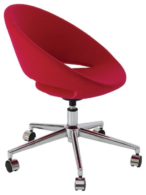 Crescent Office Chair by sohoConcept - Red Wool - contemporary ...
