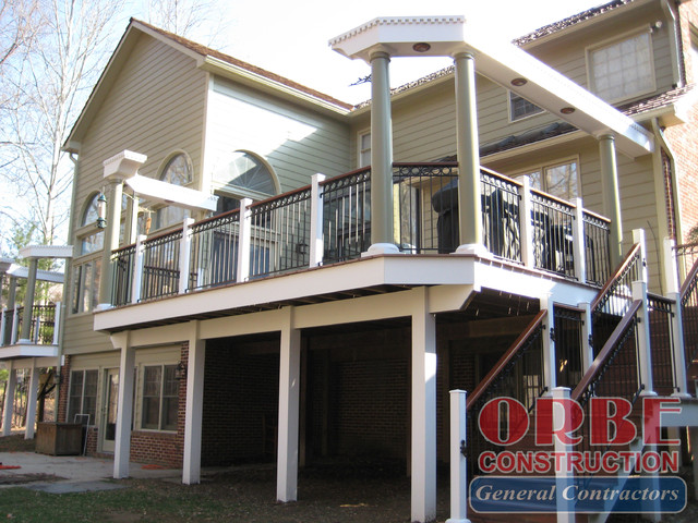 Deck Renovation at Windsor View Drive traditional-exterior