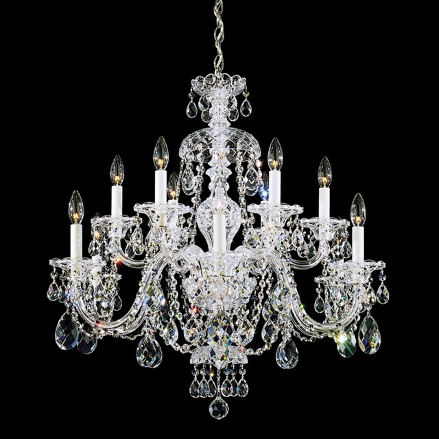 Crystal Schonbek Sterling Collection 12-Light Crystal Chandelier traditional-chandeliers