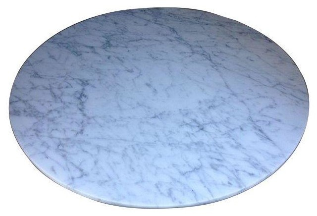 Pre-owned Statuary Marble Coffee Table Top contemporary-coffee-tables