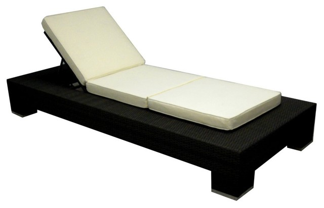 Source Outdoor King Collection All Weather Wicker Chaise Lounge ...