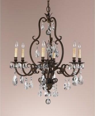 Murray Feiss Salon Maison F2228 / 6ATS Chandelier - 37.25 diam. in. - Aged Torto modern-chandeliers