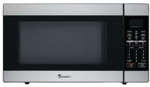 MAGIC CHEF MCD1811ST 1.8 Cubic-ft, 1,100-Watt Stainless Microwave with Digital T modern-microwaves