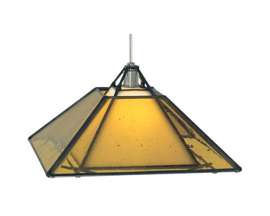 Lamp Shades Add Pizzazz! - With a square glass shade and metal finish, this Oak Park pendant from Tech Lighting is sure to bring sophistication to any room. Its multi-dimensional, geometric design and inviting illumination will inspire any décor.