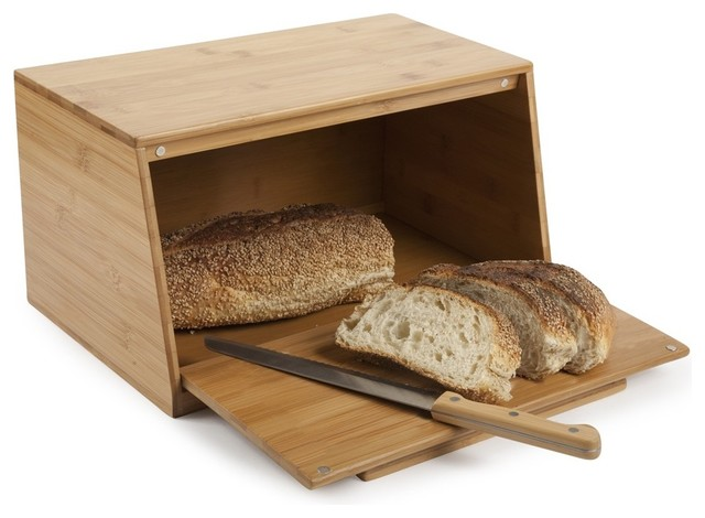 Bamboo Bread Box - Modern - Bread Boxes - new york - by ...