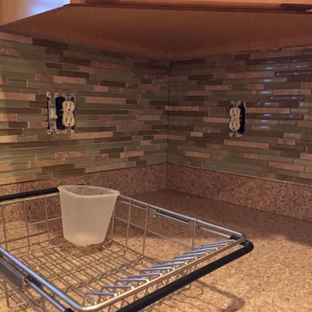 Houzz Kitchen Backsplash Tile: Glass Blend Tile Backsplash
