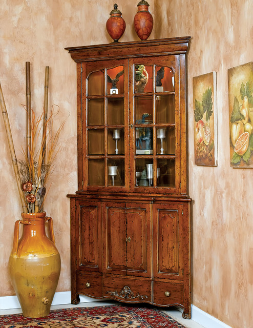Corner Cabinet / Hutch - Rustic - China Cabinets And Hutches - other metro - by David Michael ...