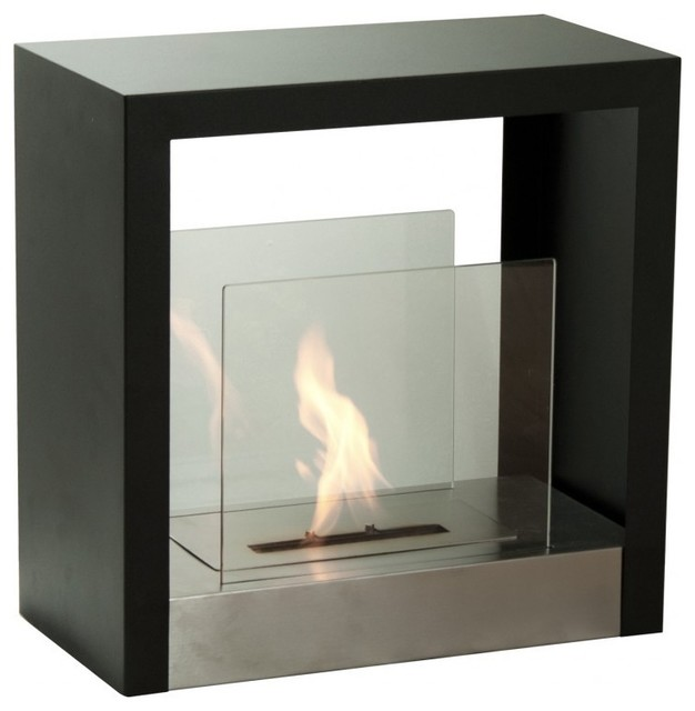 Ignis tectum s 20 x 20 freestanding ventless ethanol for Contemporary ventless fireplace