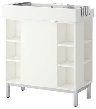 LILLÅNGEN Sink cabinet/1 door/4 end units - modern - bathroom ...