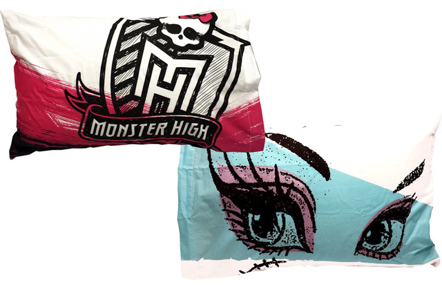 Monster high pillowcase set freaky fashion pillow covers for Freaky bedroom ideas
