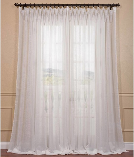 Signature Off White Extra Wide Double Layer Sheer Curtain