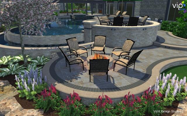 Oak Brook Il Outdoor Living 3d Pool Design