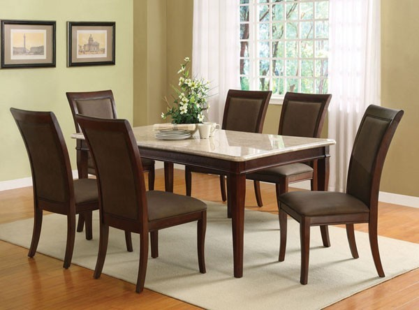 Britney Two-tone Dining Table With White