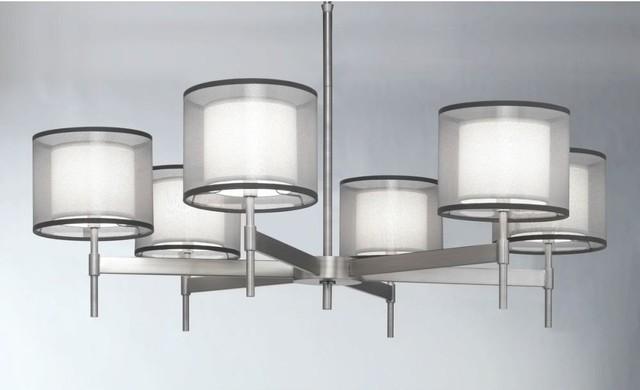 Robert Abbey-S2198-Saturnia - Six Light Chandelier contemporary-chandeliers