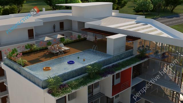 3d architecture walkthrough - contemporary