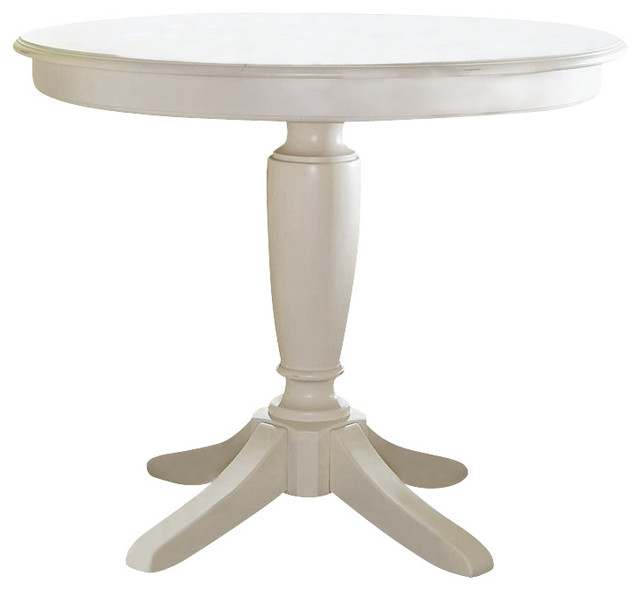 Counter Height Round Pedestal Table : ... Round Counter Height Pedestal Table in Buttermilk transitional-bar