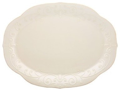 Lenox French Perle White Oval Platter modern-serving-dishes-and-platters
