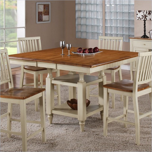 Steve silver company candice counter dining table with for Country style dining table
