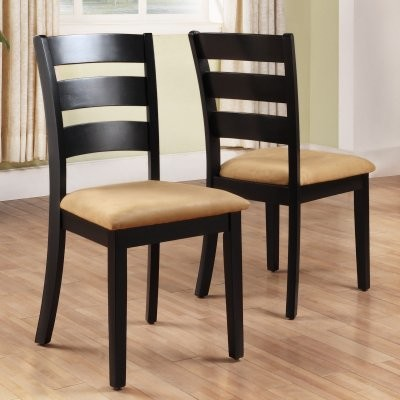 black dining chair ladder back set of 2 modern dining chairs