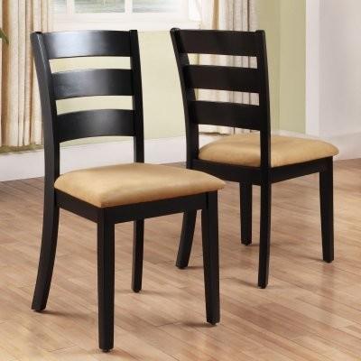 Tibalt Black Dining Chair Ladder Back Set Of 2