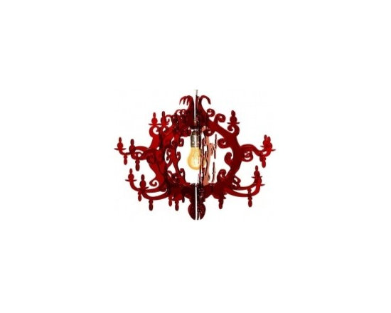 Eco Friendly Furnture and Lighting - Simple, elegant and beautiful, this lamp harks back to a romantic era, creating an atmosphere of intimacy and nostalgia. Claire de Lune ® Chandelier is reminiscent of the baroque and rococo periods, but designed with modern materials. It unites charm, sophistication and fun, making light, light. Suitable for any area.