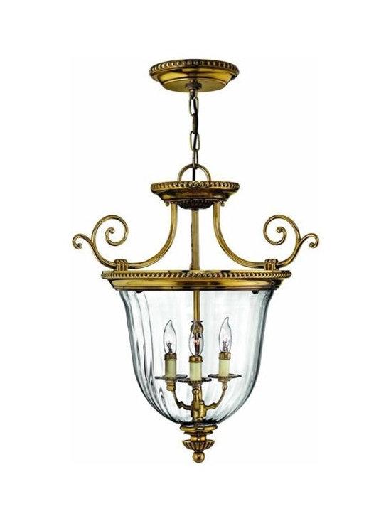 Hinkley Lighting 3613BB Hanger 3 Light Foyer Cambridge Collection -